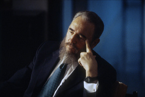 Fidel Castro during an interview at the Capitol Building in Havana, Cuba1996© 1996 Patrick D. Pagnano - Image 14001_0032