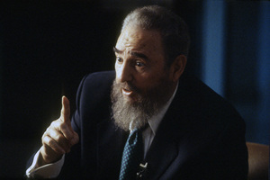 Fidel Castro during an interview at the Capitol Building in Havana, Cuba1996© 1996 Patrick D. Pagnano - Image 14001_0033