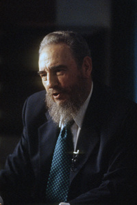 Fidel Castro during an interview at the Capitol Building in Havana, Cuba1996© 1996 Patrick D. Pagnano - Image 14001_0034