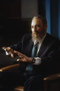 Fidel Castro during an interview at the Capitol Building in Havana, Cuba1996© 1996 Patrick D. Pagnano - Image 14001_0035