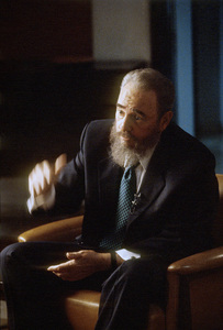 Fidel Castro during an interview at the Capitol Building in Havana, Cuba1996© 1996 Patrick D. Pagnano - Image 14001_0036