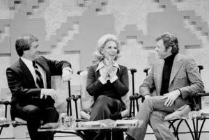 """Merv Griffin Show, The"" Merv Griffin, DinahShore, Steve Lawrence c. 1969 © 1978 Chester Maydole - Image 14113_0002"