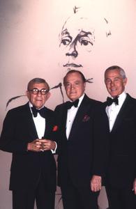 """""""A Love Letter to Jack Benny"""" George Burns, Bob Hope, Johnny Carson 1981 © 1981 Gene Trindl - Image 14140_0001"""