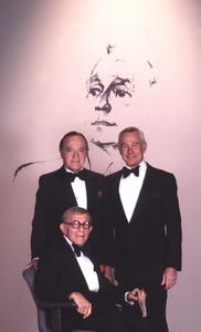 """""""A Love Letter to Jack Benny"""" George Burns, Bob Hope, Johnny Carson 1981 © 1981 Gene Trindl - Image 14140_0002"""