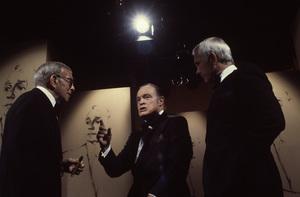 """""""A Love Letter to Jack Benny""""George Burns, Bob Hope, Johnny Carson1981 © 1981 Gene Trindl - Image 14140_0003"""
