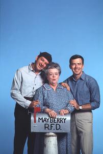 """""""Mayberry RFD""""George Lindsey,Frances Bavier,Ken Berry1968 © 1978 Gene Trindl - Image 14342_0004"""