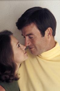 Robert Hogan at home with his wife, Sharon Lynn (Shannon) Harper1968© 1978 Gene Trindl - Image 14359_0003