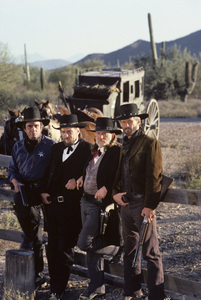 """Stagecoach""Johnny Cash, Waylon Jennings, Willie Nelson, Kris Kristofferson1986© 1986 Gene Trindl - Image 14408_0004"