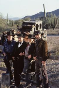 """Stagecoach""Johnny Cash, Waylon Jennings, Willie Nelson, Kris Kristofferson1986© 1986 Gene Trindl - Image 14408_0004"