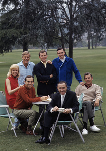 Richard O. Linke with Ronnie Schell, Jerry Van Dyke, Ken Berry, Jim Nabors and Andy Griffith1968 © 1978 Gene Trindl - Image 14491_0001