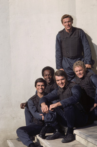"""S.W.A.T."" Mark Shera, Rod Perry, Robert Urich, James Coleman, Steve Forrest 1975 © 1978 Gene Trindl - Image 14618_0001"