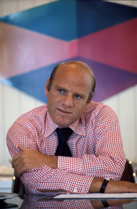 Barry Diller in his office (background art by Ron Davis)circa 1978 © 1978 Gene Trindl - Image 14625_0002