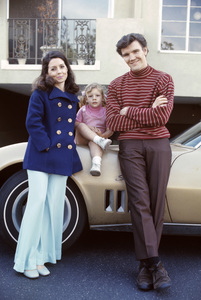 David Canary at home with his wife, Julie M. Anderson, their daughter, Lisa (aka Diamond) and his 1968 Chevrolet Corvette1969© 1978 Gene Trindl - Image 14631_0003