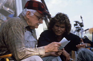 """Where Pigeons Go to Die""Art Carney, Michael Landon1990© 1990 Gene Trindl** H.L. - Image 14642_0011"