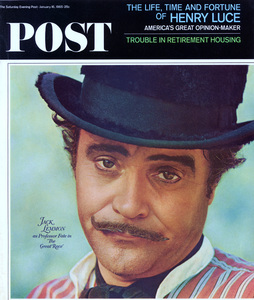"""Saturday Evening Post Cover""""Great Race, The"""" Jack LemmonPhoto taken c. 1965 © 1978 Bob Willoughby - Image 14659_0004"""