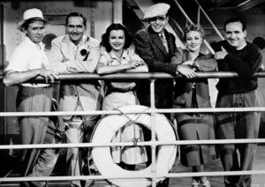 """Trade Winds"" Writer Tay Garnett, Joan Bennett, Fredric March, Ann Sothern, Ralph Bellamy, cinematographer Rudolph Mate 1938 © 1978 Ned Scott Archive - Image 14663_0008"