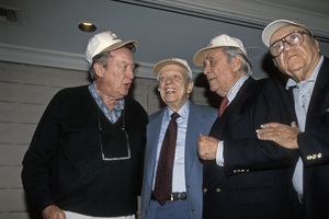Don Knotts with Tom Poston, Louis Nye and Bill Dana at a tribute for Mr. Nye held at The Sportsmen