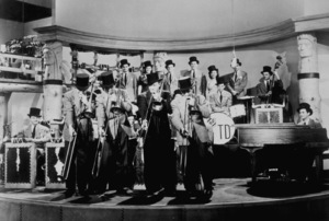 """Tommy Dorsey Band with Frank Sinatra (Back Right) from""""Las Vegas Nights,"""" 1941 - Image 14726_0001"""