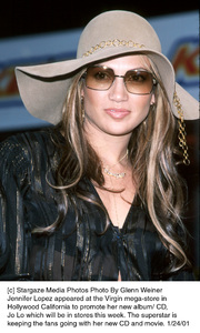 Jennifer Lopez at the promotion of her new CD at the Virgin mega store in Hollywood. 1/24/01 © 2001 Glenn Weiner - Image 14869_0100