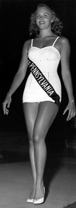 """Pageants: Miss America""Evelyn Margaret Ay, Miss Pennsylvania, walks down the runway in the Miss America contest at Atlantic City1953 - Image 14922_0018"