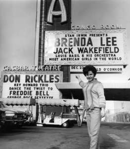 Brenda Lee in front of the Sahara in Las Vegas, NVcirca 1962Photo by Joe Shere - Image 14970_0001