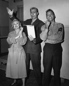"""South Sea Woman""Virginia Mayo, Chuck Connors, Burt Lancaster1953 Warner BrothersPhoto by Lloyd MacLean - Image 14985_0001"
