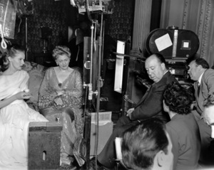 """""""The Paradine Case""""Ann Todd, Ethel Barrymore, and Dir. Alfred Hitchcock1947 United Artists**I.V. - Image 1559_0012"""