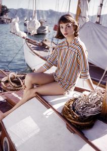 Elsa Martinelliin Portofino, Italy1/10/1955 © 1978 Mark Shaw - Image 16013_0003