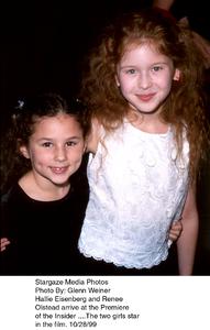 """Insider, The"" Premiere,Hallie Eisenberg and Renee Olstead.10/28/99. © 1999 Glenn Weiner - Image 16048_0101"