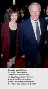 """""""Insider, The"""" Premire,Christopher Plummer and daughterAmanda Plummer.  10/28/99. © 1999 Glenn Weiner - Image 16048_0103"""