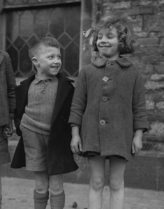 Children in Chipping Sodbury, Glos., England1944 © 1978 Herman V. Wall  - Image 16069_0034