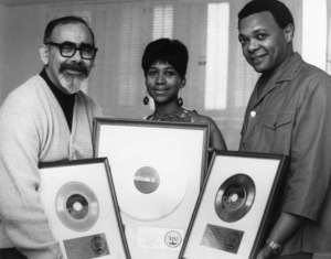 Aretha Franklin with Jerry Wexler and Ted Whitecirca 1960s** R.J.C. - Image 16105_0023