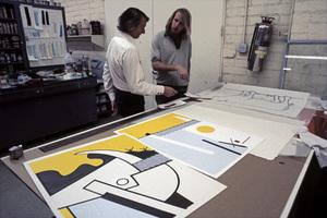 Roy Lichtenstein at Gemini GEL artist