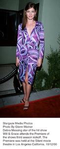 """Will & Grace"" third season premiere.Debra Messing.  10/12/00. © 2000 Glenn Weiner - Image 16166_0100"
