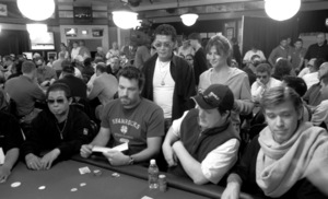 Ben Affleck at the World Series of Poker (Scotty Nguyen behind)2004© 2004 Ulvis Alberts - Image 16236_0003