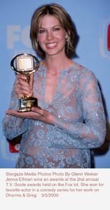 """""""T.V. Guide Awards - 2nd Annual,""""Jenna Elfman.  3/5/00. © 2000 Glenn Weiner - Image 16314_0100"""