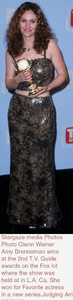 """""""T. V. Guide Awards - 2nd Annual,""""Amy Brenneman.  3/5/00. © 2000 Glenn Weiner - Image 16314_0101"""