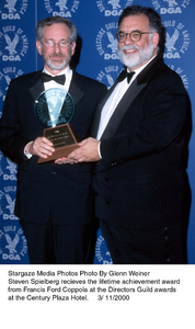 """Directors Guild Awards - 52nd Annual,""Steven Speilberg and Francis Ford Coppola.3/1//00. © 2000 Glenn Weiner - Image 16345_0101"