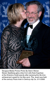 """""""Directors Guild Awards - 52nd Annual,""""Steven Speilberg with wife Kate Capshaw.3/1//00. © 2000 Glenn Weiner - Image 16345_0104"""