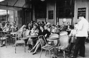 The Cafe de Flore in Montparnassecirca 1950s© 1978 Sanford Roth - Image 16406_0021