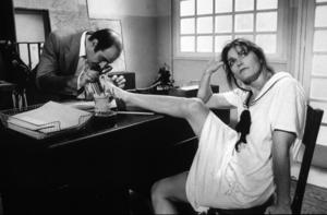 """Trenchcoat,""David Suchet, Margot Kidder1983 / Disney © 1983 John Jay - Image 16460_0003"