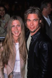 """""""Erin Brockovich"""" Premiere,Jennifer Aniston with Brad Pitt.3/14/00. © 2000 Glenn Weiner - Image 16472_0006"""