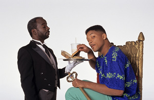 """The Fresh Prince of Bel-Air""Joseph Marcell, Will Smith1990 © 1990 Mario Casilli - Image 16486_0020"