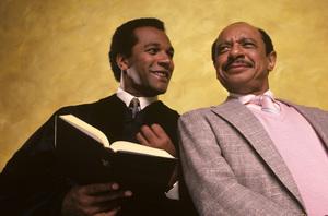 """Amen""Clifton Davis, Sherman Hemsley1987© 1987 Mario Casilli - Image 16531_0010"