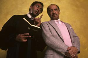 """Amen""Clifton Davis, Sherman Hemsley1987© 1987 Mario Casilli - Image 16531_0011"