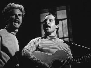 Paul Simon & Art Garfunkel performing in L.A., 1967. Photo: Ernest Reshovsky © 1978 Marc Reshovsky - Image 16532_0001