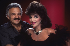 Photographer Mario Casilli and Joan Collins1984Photo by Bernie Boudreau© 1984 Mario Casilli - Image 16543_0001