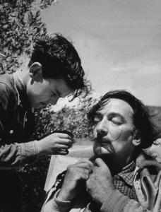 Salvador Dali in Port Lligat Spain, 1953. Photo: Ernest Reshovsky © 1978 Marc Reshovsky - Image 16666_0005