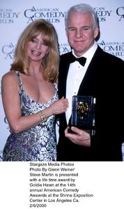 """Comedy Awards: 14th Annual,""Goldie Hawn & Steve Martin.  2/06/00. © 2000 Glenn Weiner - Image 16678_0105"