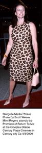 """Return To Me"" Premiere,Mimi Rogers.  4/3/00. © 2000 Scott Weiner - Image 16680_0102"